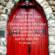 Behold I stand at the door and knock REV 3and20