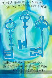 keys and doors no one but God can open Isaiah 22 and 22