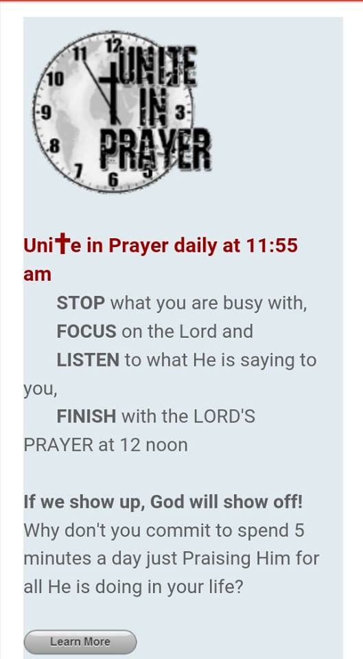 Unite in Prayer 1155