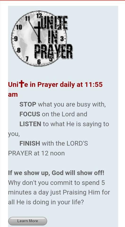 Unite in Prayer 1155