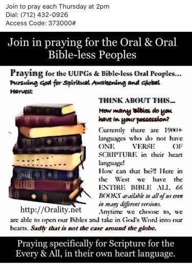 Prayer each Thursday