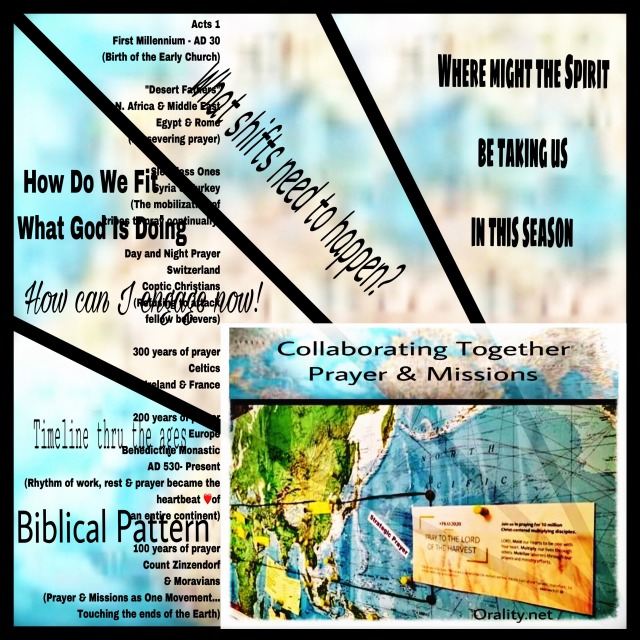 collage of prayer and missions over the ages