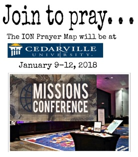 ION Prayer Map to Cedarville University