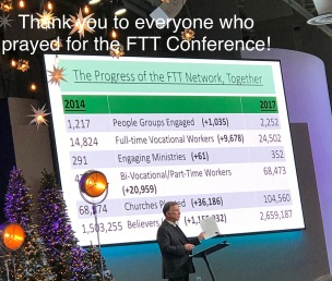 Thank you for praying for the FTT Conf