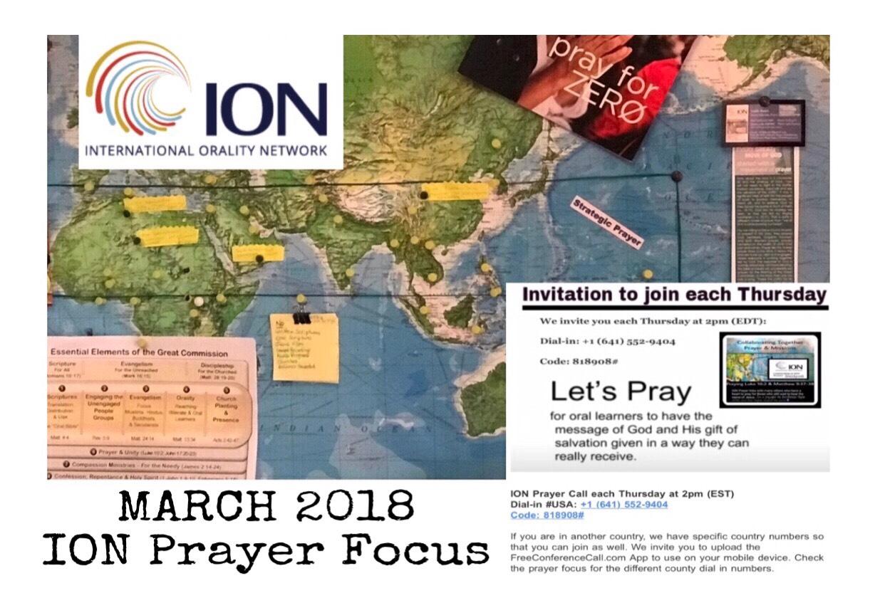 March 2018 ION Prayer Focus