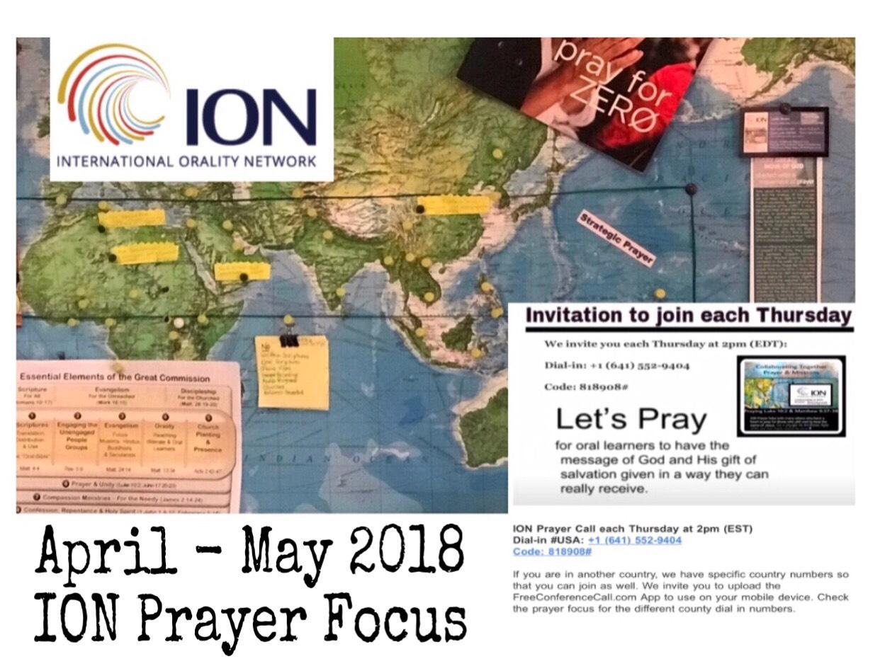 April May 2018 Prayer Focus