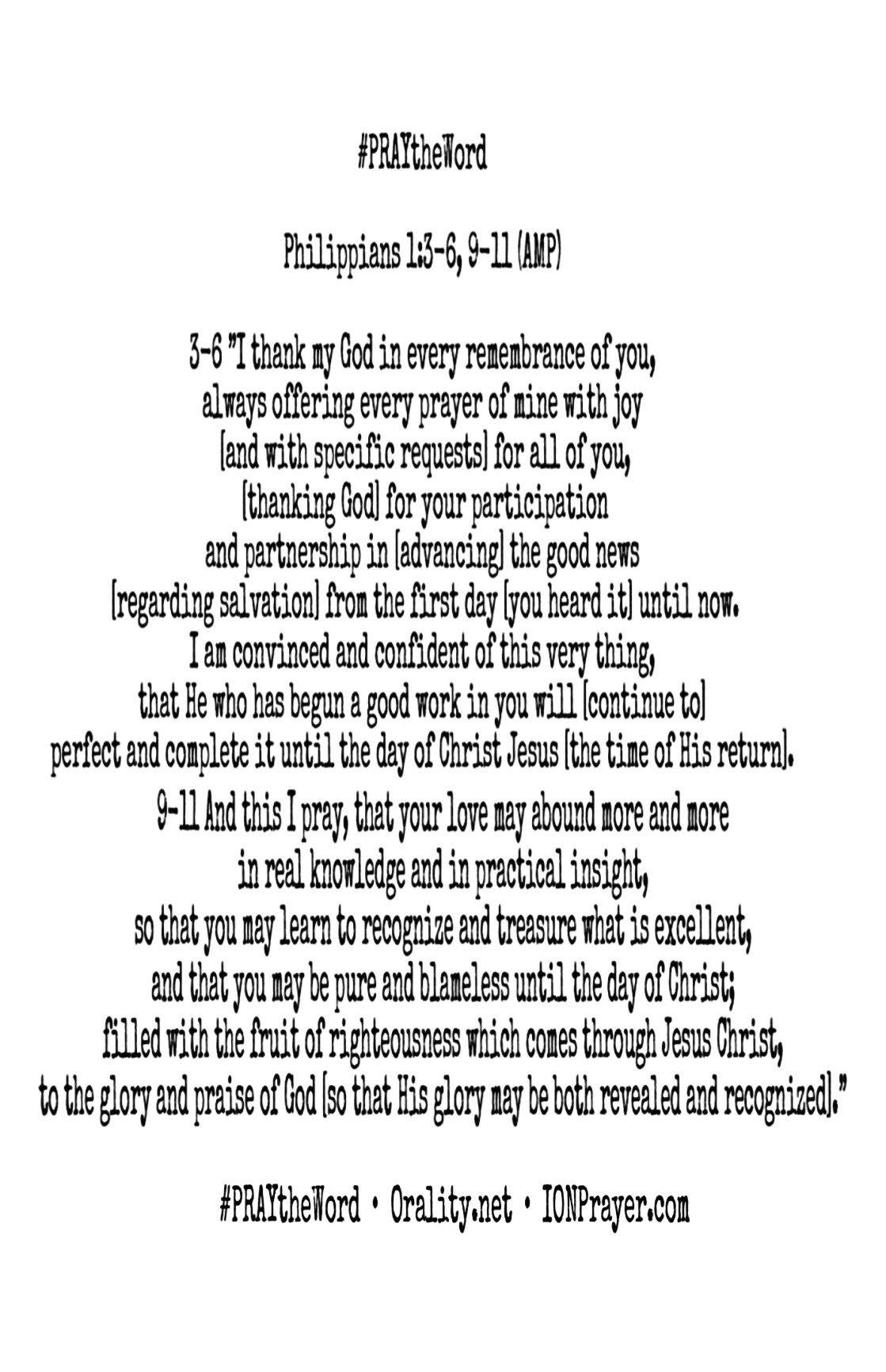 Philippians 1 PRAYtheWord
