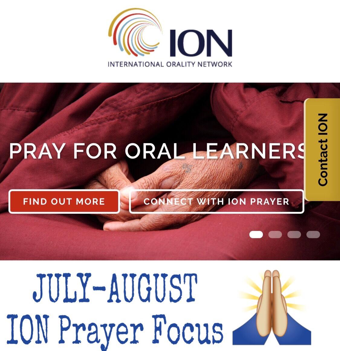 July August ION Prayer Focus