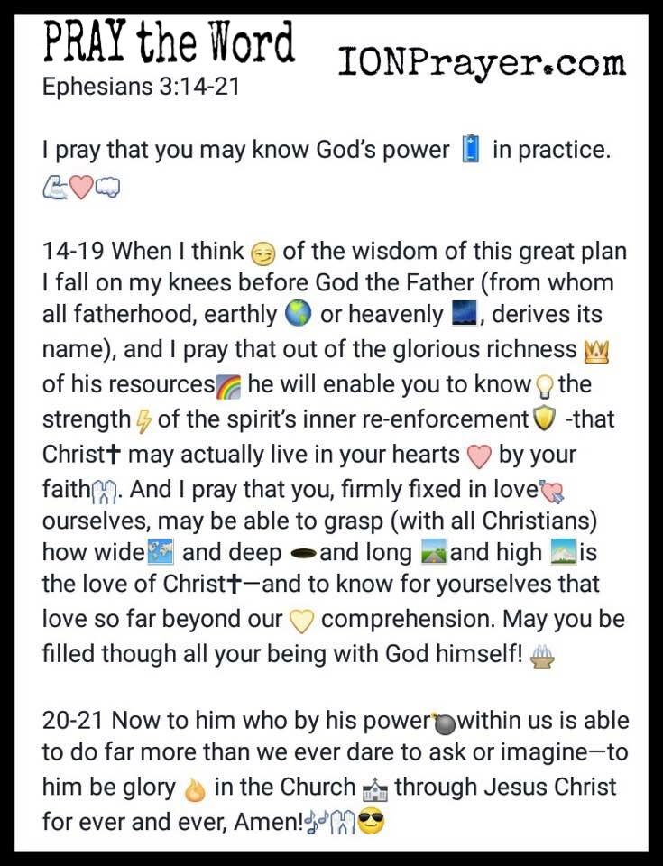 PRAY the Word Eph 3 20-21
