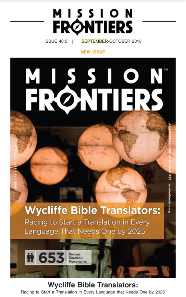 Mission Frontiers SEPT2018