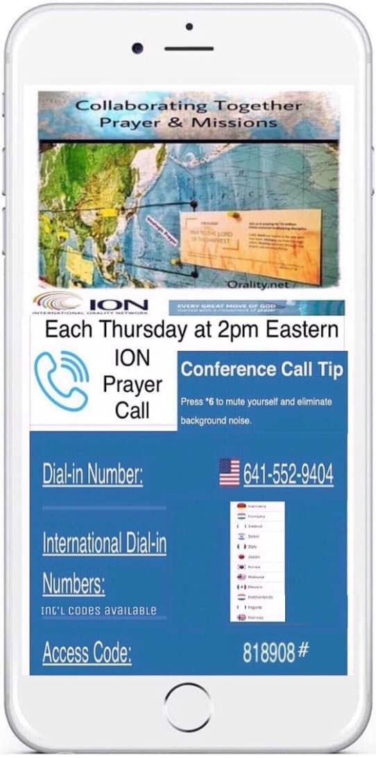 ion prayer call phone image with call numbers
