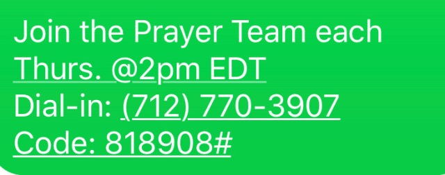 ION Thursday Prayer Line Number